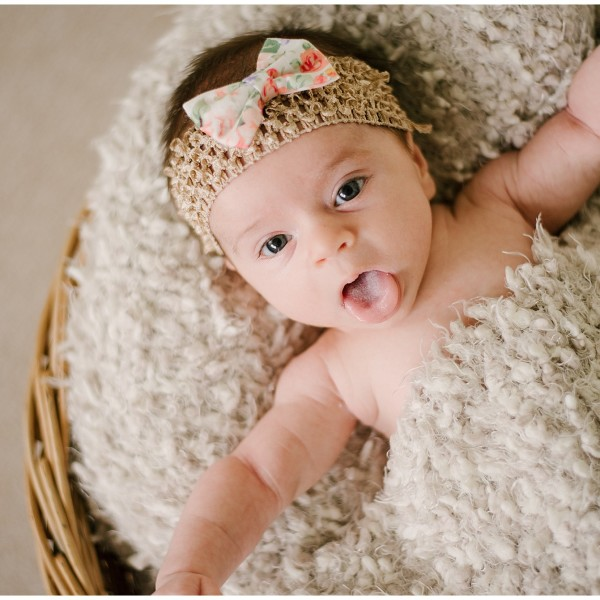 Newborn photography session with baby Lilly.